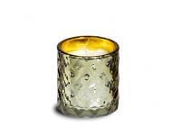Küünal Spaas klaasis 25h valge/kuld