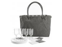 Pikniku kott + tarvikud 4-inimesele