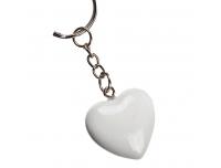 Võtmehoidja süda punane/valge