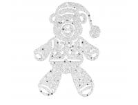 Kuuseehe Karu 10,5cm hõbe