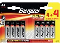 Patarei Energizer Max AA (LR6) 4+4tk