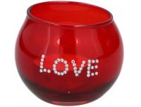 Küünal klaasis punane valik