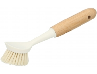 Nõudepesuhari valge/bambus pika varrega