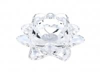 Teeküünlahoidik Lotus kristall 11,5x5cm
