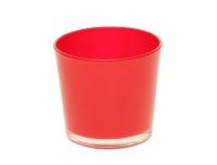 Ümbrispott Nashwille klaas 12cm punane