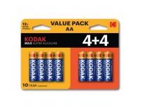 Patarei Kodak Max AA 4+4tk