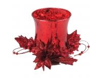 Teeküünlahoidik 15cm punane klaas