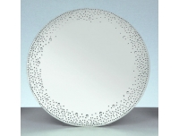 Küünlaalus peegel kristallidega Ø25cm