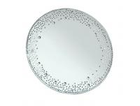 Küünlaalus peegel kristallidega Ø20cm