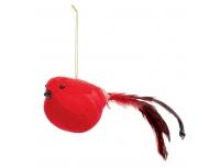 Dekoratsioon Punane lind 22cm