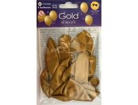 Õhupallid kuldsed 6tk