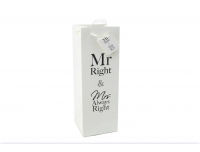 Pudelikott Mr&Mrs Always Right 12,5x36cm