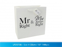 Kingikott 33x33cm Mr&Mrs Always Right