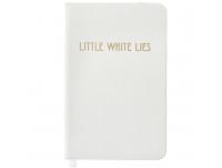 Märkmik White Lies valge A6