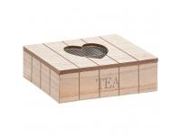 Teekarp Süda 24x16x6,5cm puit