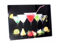 Lõikelaud Kokteilid 40x30cm klaasist