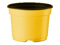 Ümarpott 13cm H9,6cm kollane