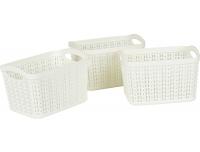 Plastkorv Knitty 3tk/1,5L kandil valge