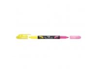 Tekstimarker 1,0/3,5mm kollane/roosa