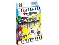 Viltpliiatsid Toy Color 10tk kahe otsaga