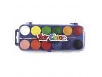 Vesivärvid Toy Color 12tk+ pintsel