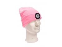 Müts LED-valgustusega USB laetav roosa