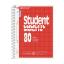 Spiraalkaustik Student A5 80 lehte ruut