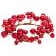 Küünlarosett Punased pärlid 12cm